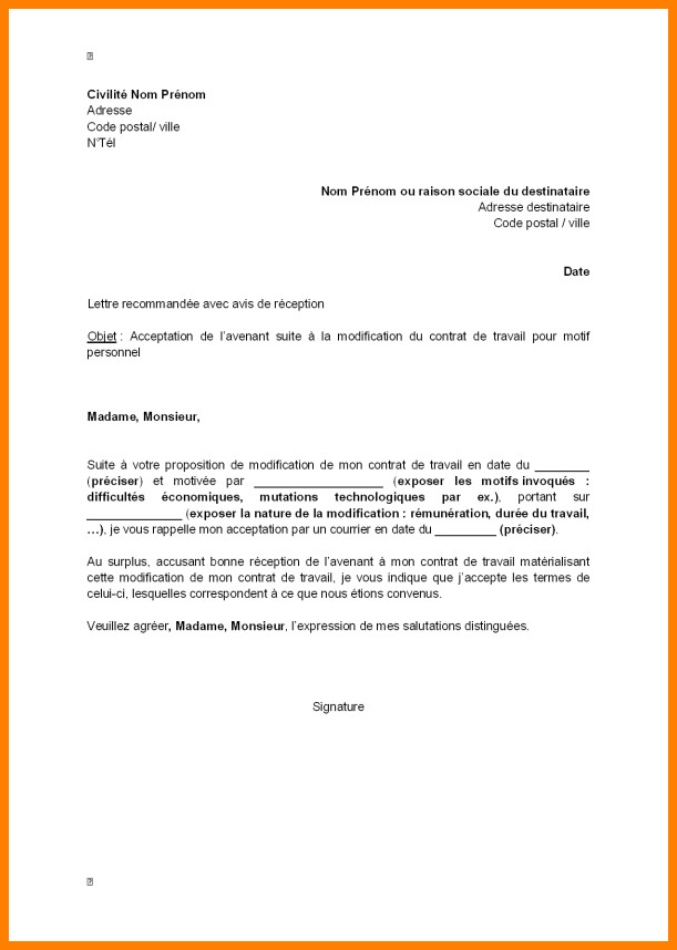 exemple des lettres administratives