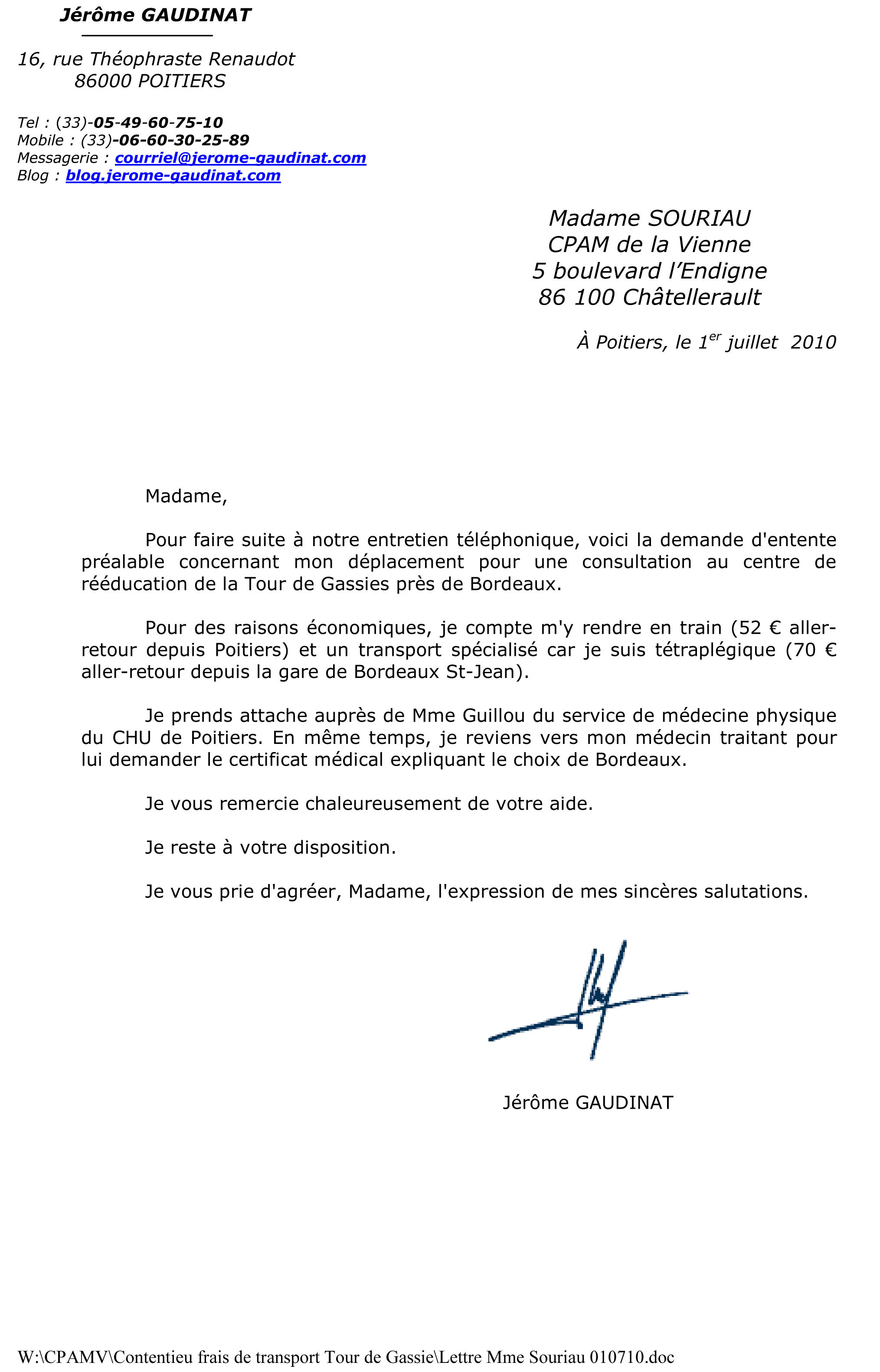 lettre opposition administrative amende